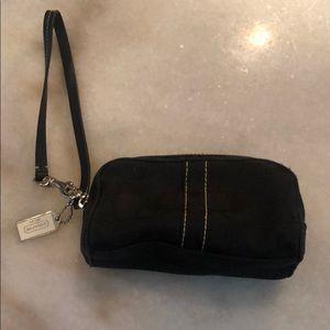 NWOT Coach black wristlet small purse